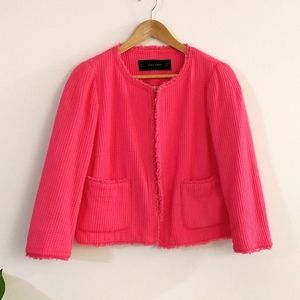 Zara basic pink cotton jacket
